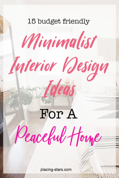 minimalist design ideas for a peaceful home pin