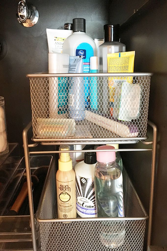 bathroom organization right cabinet pull out wire drawers copy