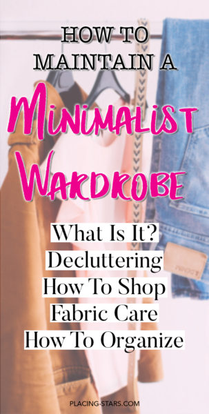 how to maintain a minimalist wardrobe