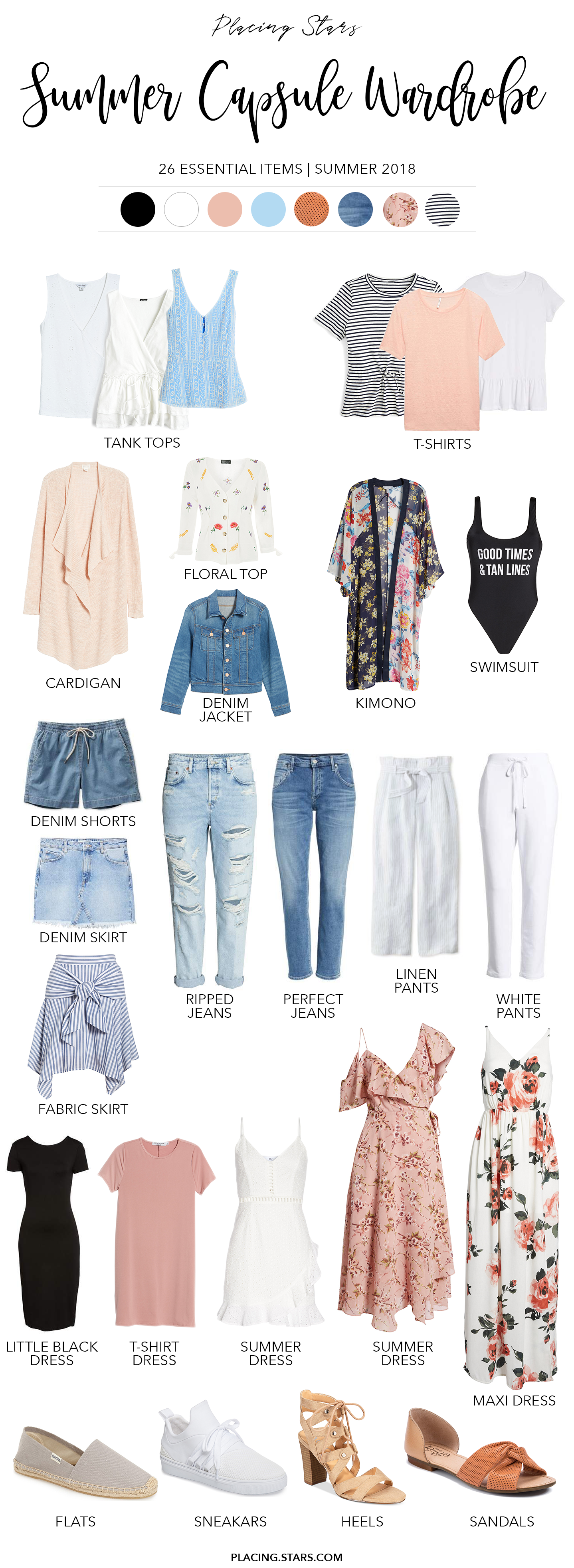summer capsule wardrobe 2018 pin