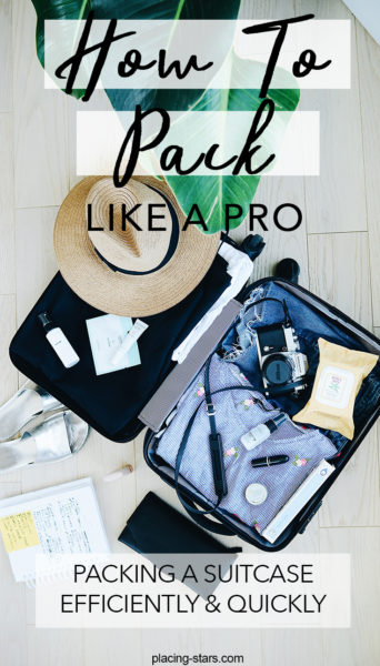 how to pack a suitcase efficiently and quickly - the best method of packing.