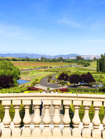 Napa Valley domaine carneros chateau porch