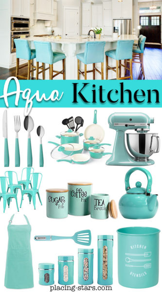 aqua kitchen products and decor