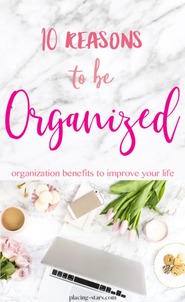 reasons to be organized post pin