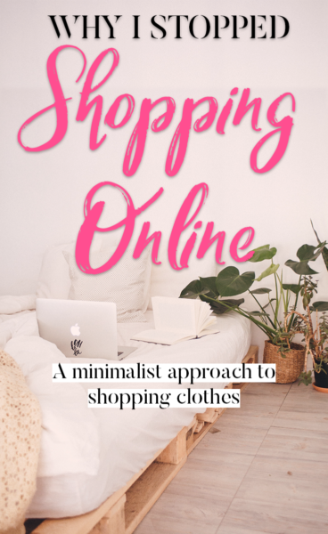 why I stopped shopping online post pin
