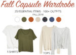 fall capsule wardrobe 2018. placing stars. minimalist wardrobe.