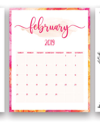 Free 2019 Printable Calendar + A Daily Planner
